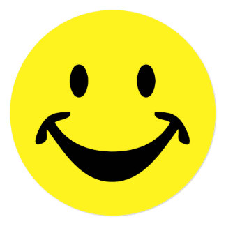 Funny Smiley face + your backg. & ideas Card