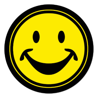 Funny Smiley yellow + your backg. & ideas Card