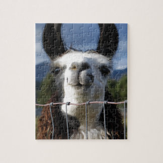 Funny Smiling Llama in Southern Oregon Jigsaw Puzzle