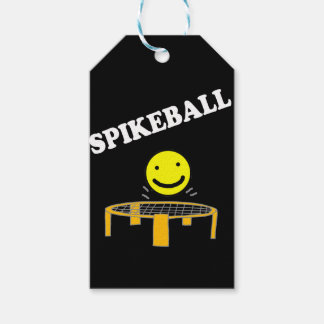Funny Spikeball Net with Smile Face Art Gift Tags
