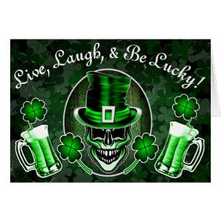 Funny St. Patrick's Day Card: Irish Skull Card