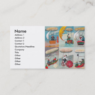Steampunk business cards zazzle nz funny steampunk air machines wacky inventions business card colourmoves