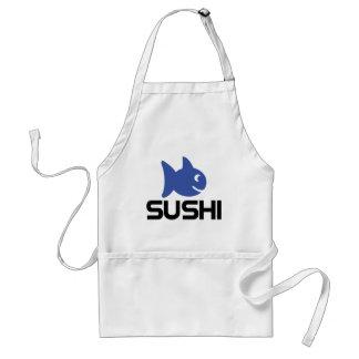 funny sushi fish icon standard apron