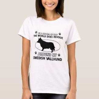 Funny swedish vallhund designs T-Shirt