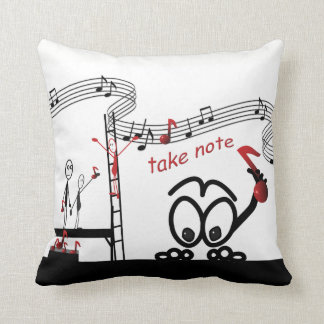 Funny Take Note Music Musician Pillow