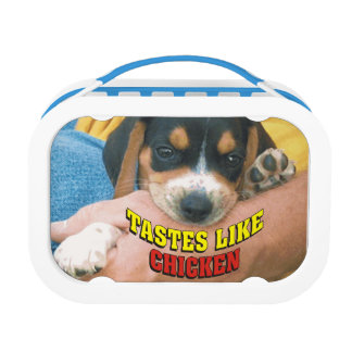 Funny Tastes Like Chicken Beagle Pup Lunch Box