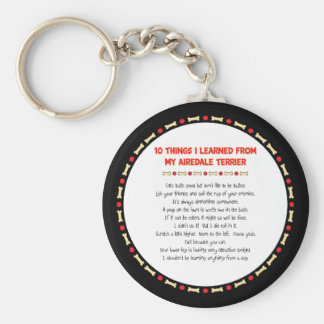 Funny Things I Learned From My Airedale Terrier Key Ring
