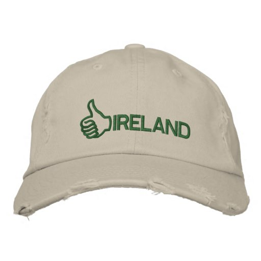 Funny Thumbs Up Ireland Embroidered Hat Embroidered Baseball Cap
