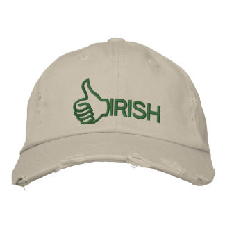 Funny Thumbs Up Irish Embroidered Hat