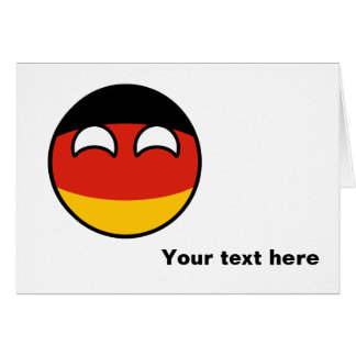 Funny Trending Geeky Germany Countryball Card