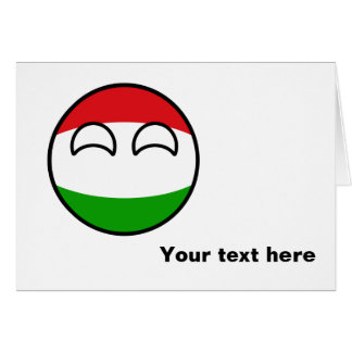 Funny Trending Geeky Hungary Countryball Card