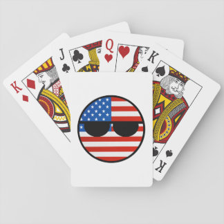 Funny Trending Geeky USA Countryball Playing Cards