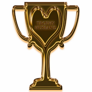 Funny Trophy Husband Photo Sculpture Key Ring