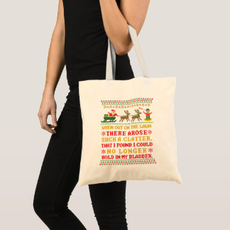 Funny Twas the Night Before Christmas Humorous Tote Bag