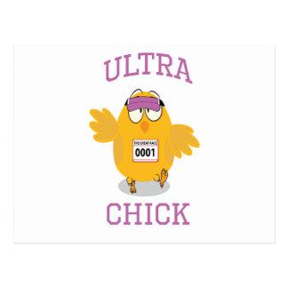 Funny Ultra Chick Runner Postcard