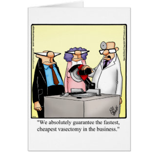 Funny Vasectomy Humour Get Well Card