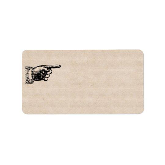 Funny Vintage Hand | Blank Address Address Label