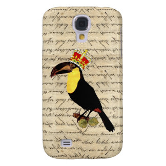 Funny vintage toucan & crown galaxy s4 case