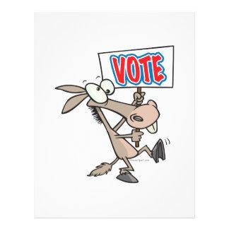 funny vote democrat donkey cartoon flyer