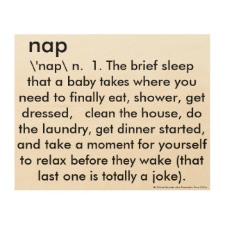 Funny Wall Art for Nursery - Naps Wood Prints