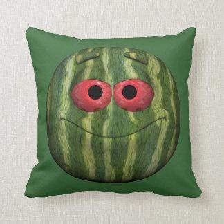 Funny Watermelon Emoticon Cushion