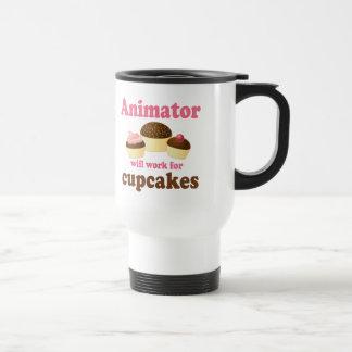 Funny Will Work for Cupcakes Animator Coffee Mugs