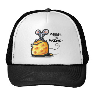 Funny Wine & Cheese Mouse Hat