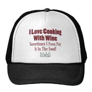 Funny Wine Design Mesh Hat