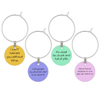 Funny Wine Glass Charms