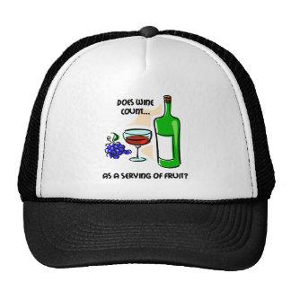 Funny wine humor saying cap