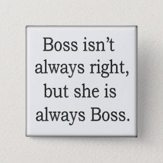 Funny words of wisdom 17 15 cm square badge
