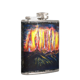 Fury Fires Hip Flask