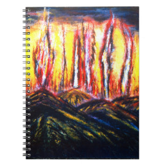 Fury Fires Spiral Notebook