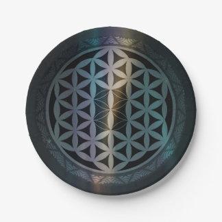 fusion_aurora_mandala paper plate