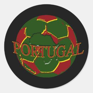 Futebol Português - Bola nos Cores Portugueses Classic Round Sticker