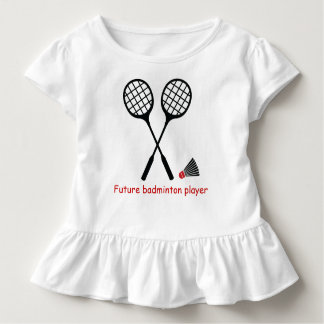 Future badminton player, racquet & shuttlecock toddler T-Shirt