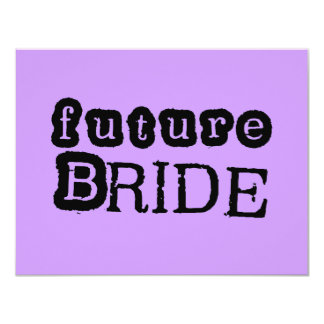 Future Bride Black Text Tshirts and Gifts Card