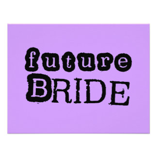 Future Bride Black Text Tshirts and Gifts Invites