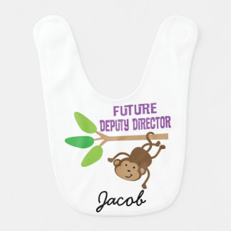 Future Deputy Director Personalized Baby Bib