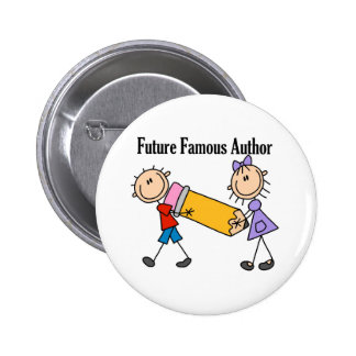 Future Famous Author 6 Cm Round Badge