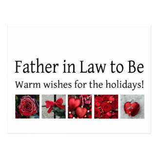 future father in law Merry Christmas card Post Card