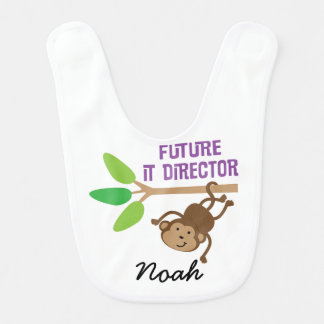 Future IT Director Personalized Baby Bib