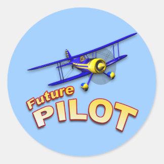 Future Pilot Classic Round Sticker