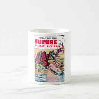 Future Science Fiction 0_Pulp Art Basic White Mug