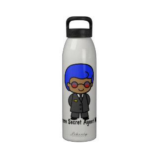 Future Secret Agent Man Drinking Bottle