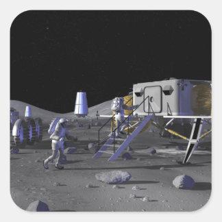Future space exploration missions 13 square sticker