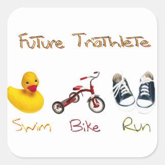 Future Triathlete Square Sticker
