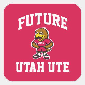 Future Utah Ute Square Sticker
