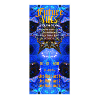 Future Vibes #2 Event Flyer Personalized Rack Card