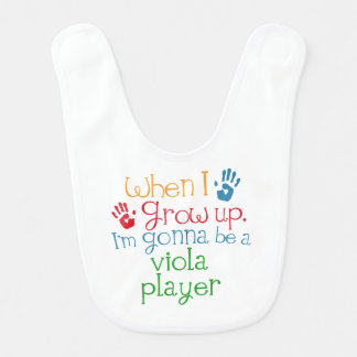 Future viola Player Baby Bib